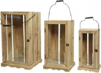 Lanterna rustica in legno