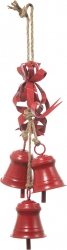 campanelle decorative rosse da 15 cm