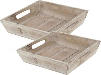 Cesto quadrato in legno