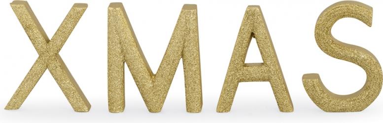 Scritta xmas glitter oro
