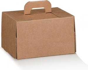 Bauletto in cartoncino avana con manico e aperture ingrosso online b2b per delivery e asporto