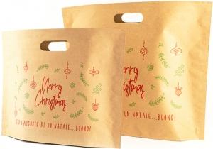 Sacchetti Natalizi in Carta Con Manico a Fagiolo - vendita online all'ingrosso b2b