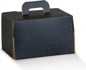 Bauletto in cartoncino colore nero forma rettangolare co manico per take away e delivery vendita all'ingrosso b2b online