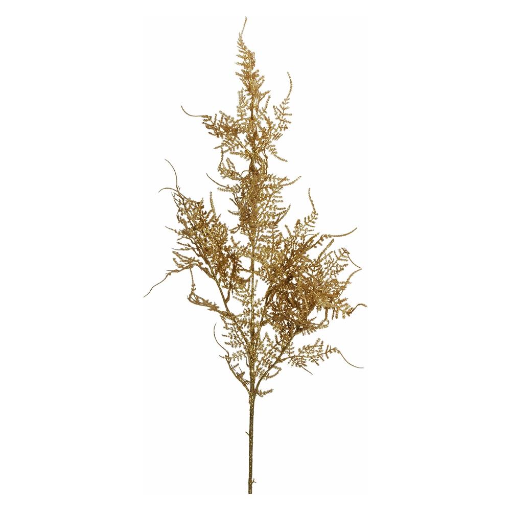 Ramo di foglie glitterate oro