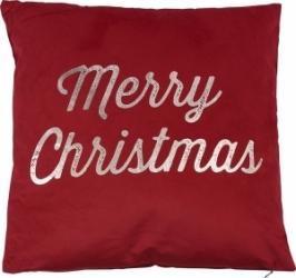 Cuscino rosso merry christmas