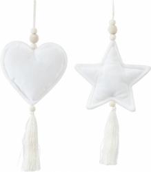 Addobbo pendente con nappina bianco