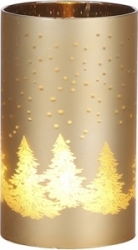 Vasetto hurricane luminoso oro