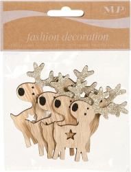 renne decorative con adesivo in confezione da 6 pezzi