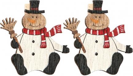 Mollettine con pupazzo di neve in confezione da 6 pezzi