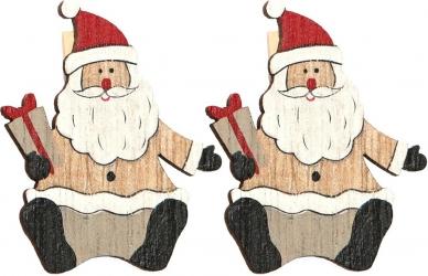 Mollettine con babbo Natale in confezione da 6 pezzi