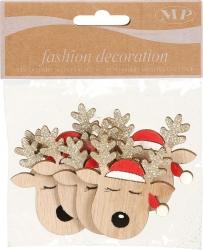 Renna natalizia con adesivo in confezione da 6 pezzi
