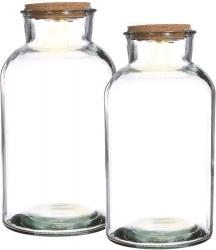 Bottiglia in vetro con led