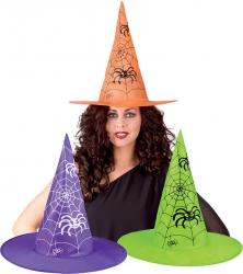 Cappello strega con stampa ragnatela