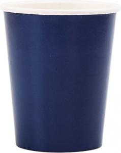 Bicchieri in cartoncino color blu in confezione da 8 pezzi