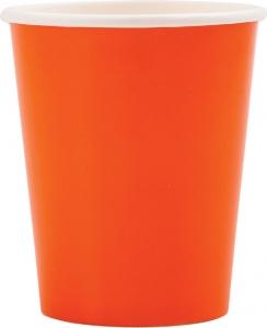 Bicchieri in cartoncino papaya in confezione da 8 pezzi