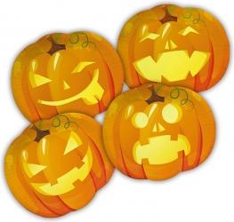 Piatti in cartoncino zucche Halloween in confezione da 8 pezzi
