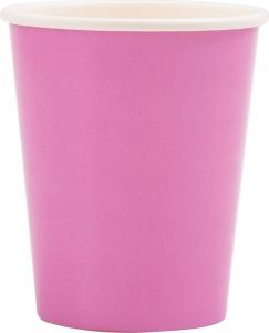 Bicchieri in carta color malva in confezione da 8 pezzi