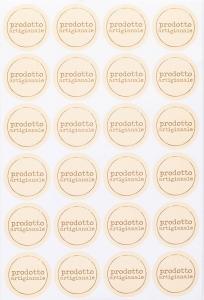 Etichette con scritta prodotto artigianale in confezione da 240 pezzi. Vendita all'ingrosso e online