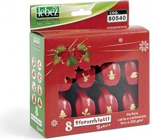 Set perforatori natalizi in confezione da 8 pezzi