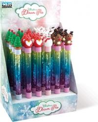 Penna natalizia con glitter
