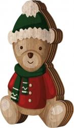 Scatola orsetto in legno