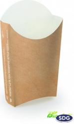 Contenitore porta patatine e fritti in cartoncino compostabile FORMATO TASCA RETTANGOLARE - vendita ingrosso b2b online