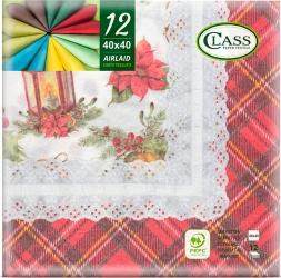 Tovaglioli airlaid scozzese in confezione da 12 pezzi