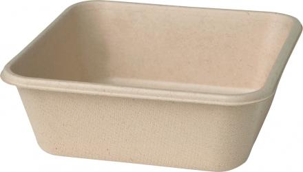 vaschetta quadrata in bagassa eco green sostenibile e microondabile delivery