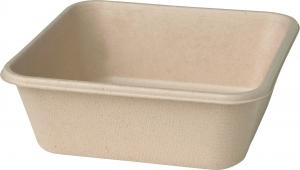 vaschetta quadrata in bagassa eco green sostenibile e microondabile delivery ingrosso b2b online