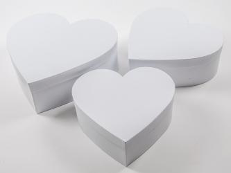 Scatola bianca a forma di cuore