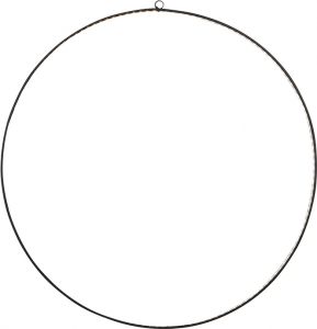 Cerchio in metallo nero con led