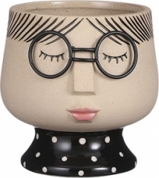 Vaso girl con occhiali 13