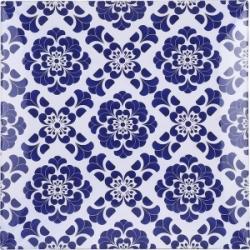 Piatto quadrato piastrella blu
