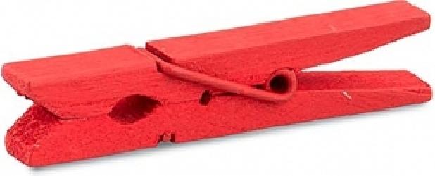 Mollette  in legno rosse 48mm (24 pezzi)