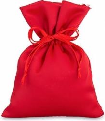 Sacchetto portaconfetti in raso rosso 14cm (12 pezzi)
