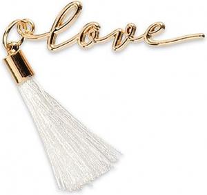Scritta decorativa love con nappa bianca (12 pezzi)