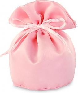 Sacchetto portaconfetti in raso rosa 12cm (12 pezzi)
