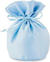 Sacchetto portaconfetti in raso azzurro 12cm (12 pezzi)