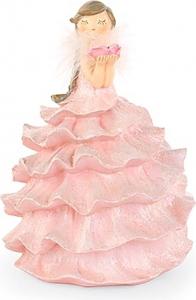 Dama in resina con vestito rosa