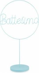 Cerchio battesimo azzurro con base