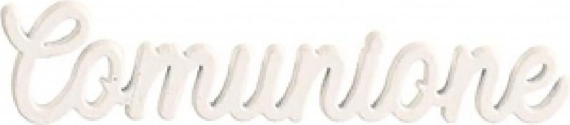 Scritta comunione in legno bianco 5