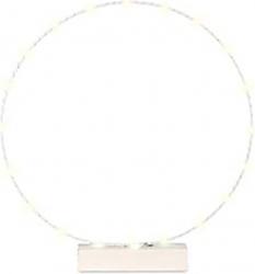 Cerchio bianco con led