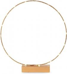 Cerchio decorativo oro su base in legno con led 48cm