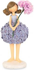 Bambina con vestitino fiorellini glicine