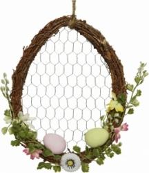Uovo decorativo con cornice naturale 27cm