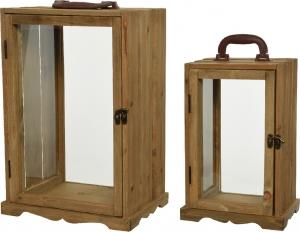 Lanterne in legno con maniglia