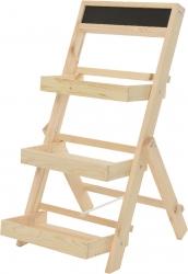 Scaletta espositiva in legno