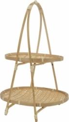 Alzata bamboo con base ovale