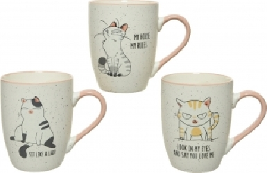 Mug in porcellana con stampa gatto