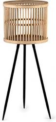Portavaso in bamboo con treppiedi 78cm